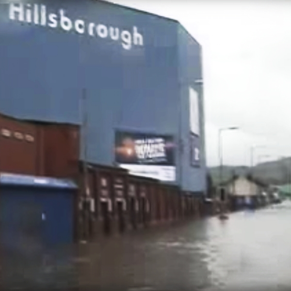 Hillsborough Stadium during the 2007 Sheffield Flood