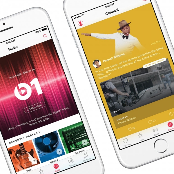 Apple Music featuring new 'Connect' social network